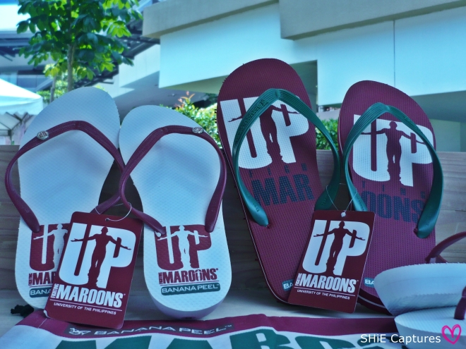 The fighting maroon flip flops! :D #TatakUP
